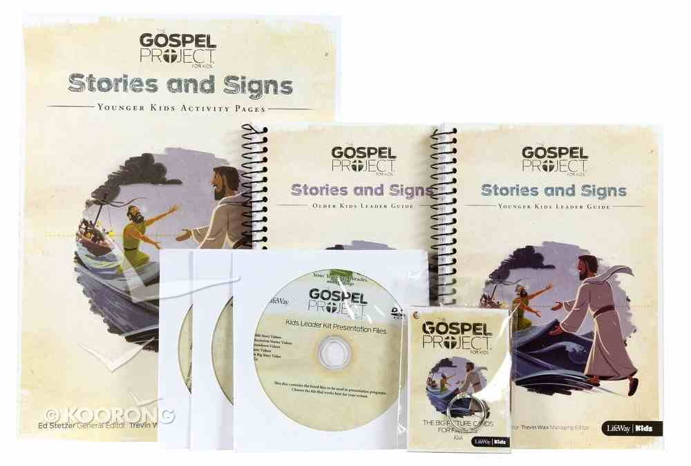Stories and Signs Includes 2 Leader Guides, Activity Packs, Songs, Bible Story, Videos (Kids Leader Kit) (#08 in The Gospel Project For Kids Series) Pack