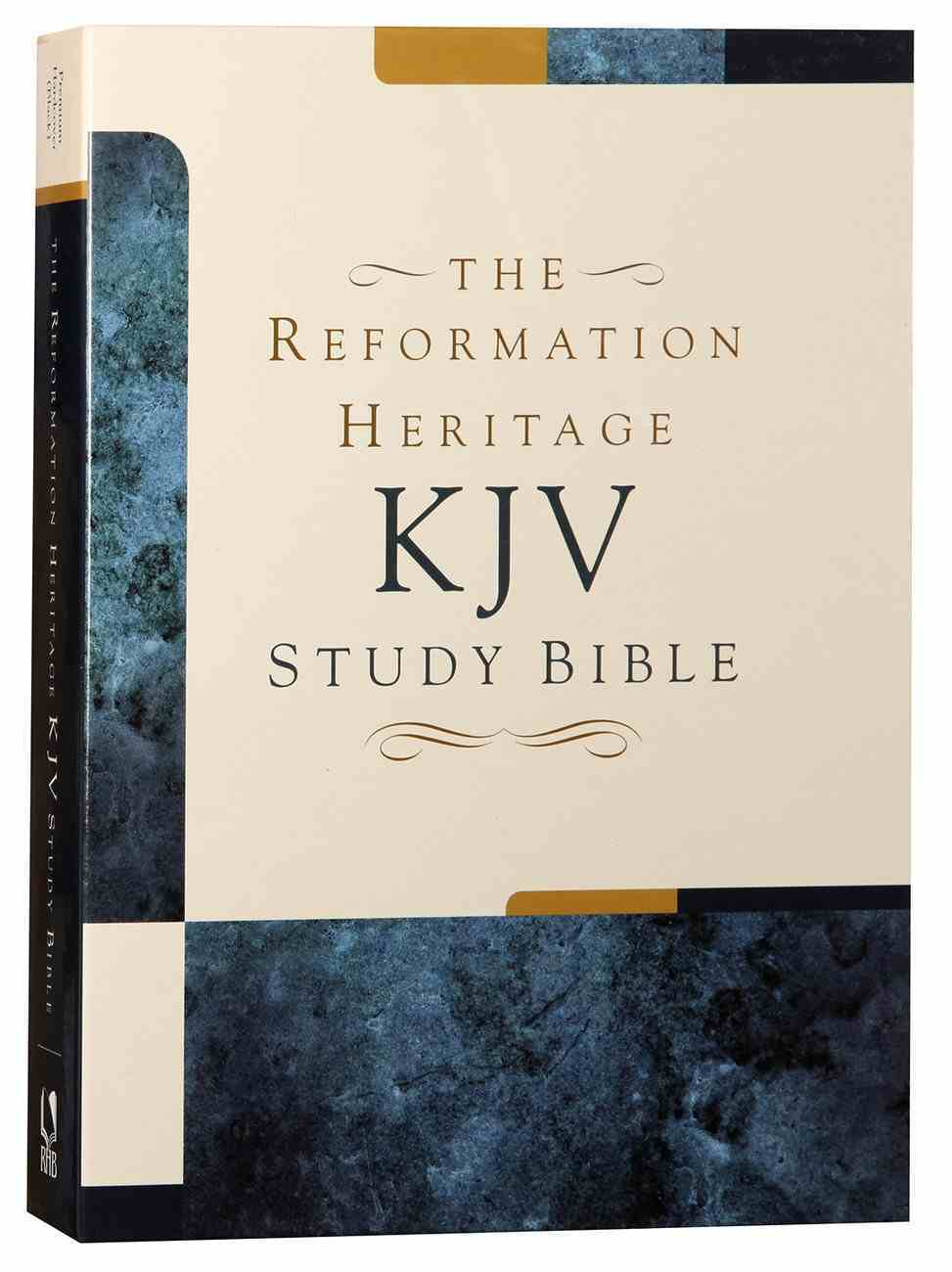 KJV Reformation Heritage Study Bible Premium Hardcover Hardback