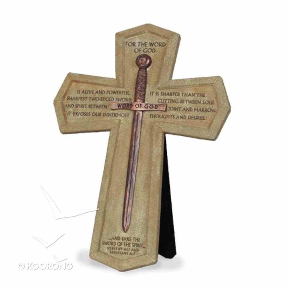 Wall Cross: Word of God Sword (26cm X 18cm) Plaque