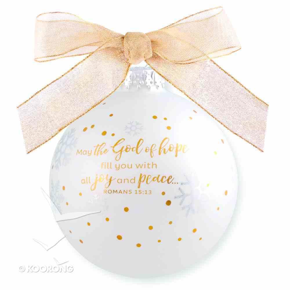 Christmas Ornament Season of Joy: Hope Gold and White (Romans 15:13) Homeware