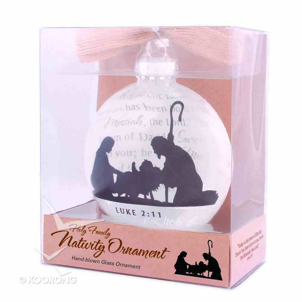 Christmas Glass Ornament: Holy Family Nativity (Luke 2:11) Homeware