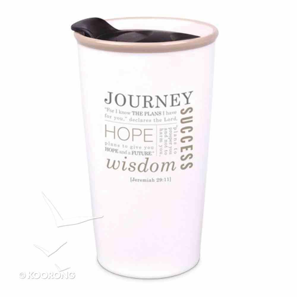 Ceramic Tumbler Mug: Journey, Cream (Jer 29:11) Homeware