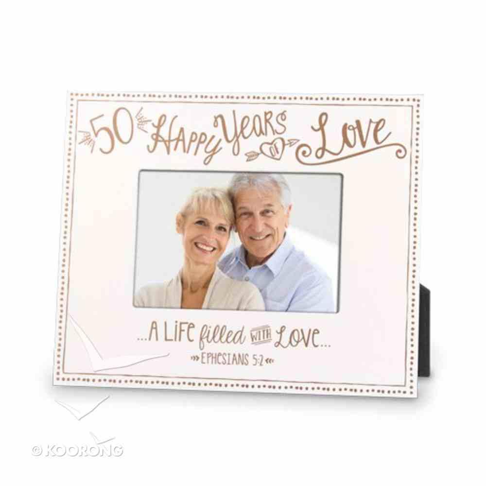 Mdf Frame: 50Th Anniversary Love (Eph 5 2) Homeware