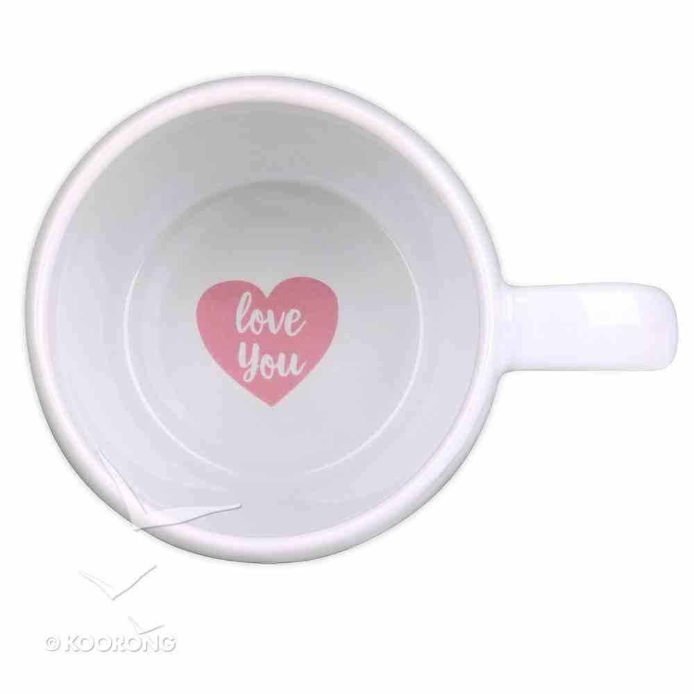 Ceramic Mug: I Love That You're My Mum, White/Pink Ribbon (Eph 1:16) Homeware