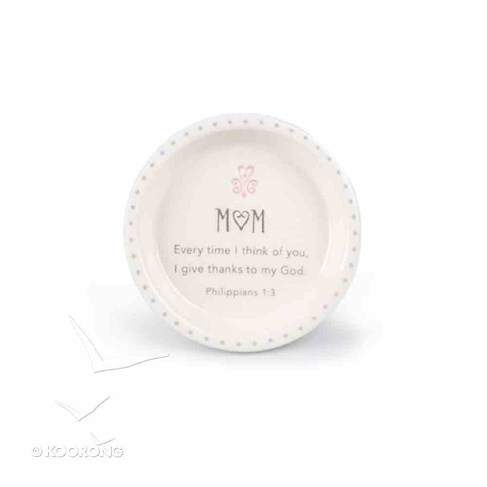 Stamped Words Ceramic Catch-All: Mum White/Red Heart (Phil 1:3) Homeware