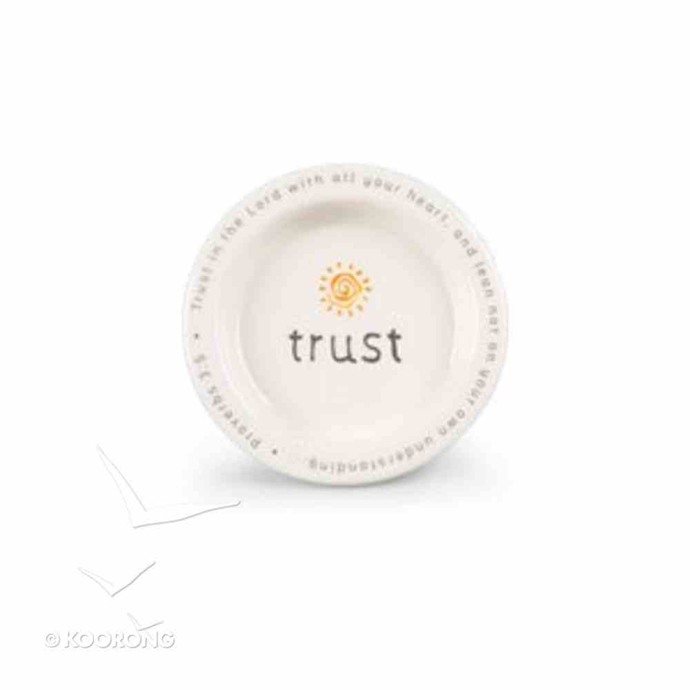 Statements Ceramic Catch-All: Trust in the Lord Orange/White (Proverbs 3:5) Homeware