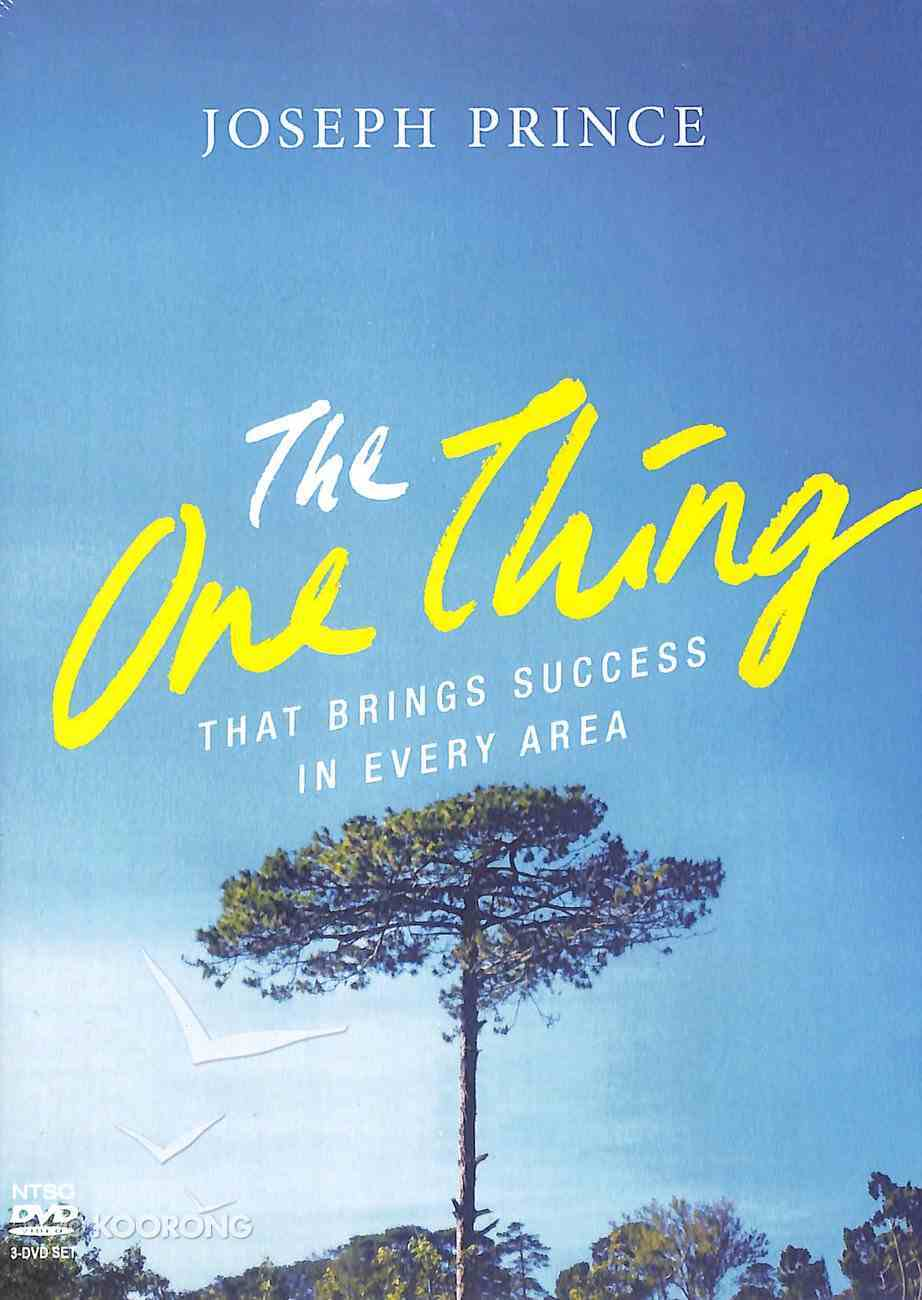 The One Thing That Brings Success in Every Area (3 Dvd) DVD