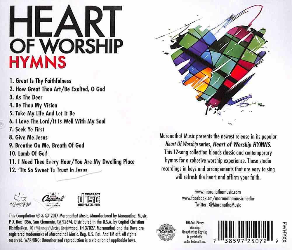Ccli Heart of Worship - Hymns (Heart Of Worship Series) CD