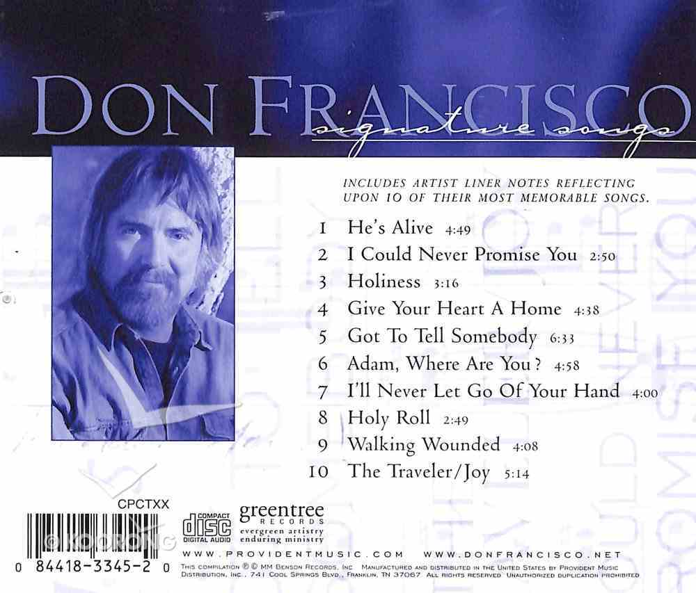 Don Francisco (Signature Songs Series) CD