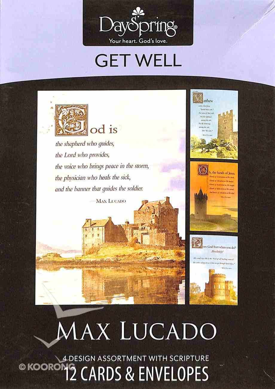Boxed Cards Get Well: Max Lucado - Castles Box
