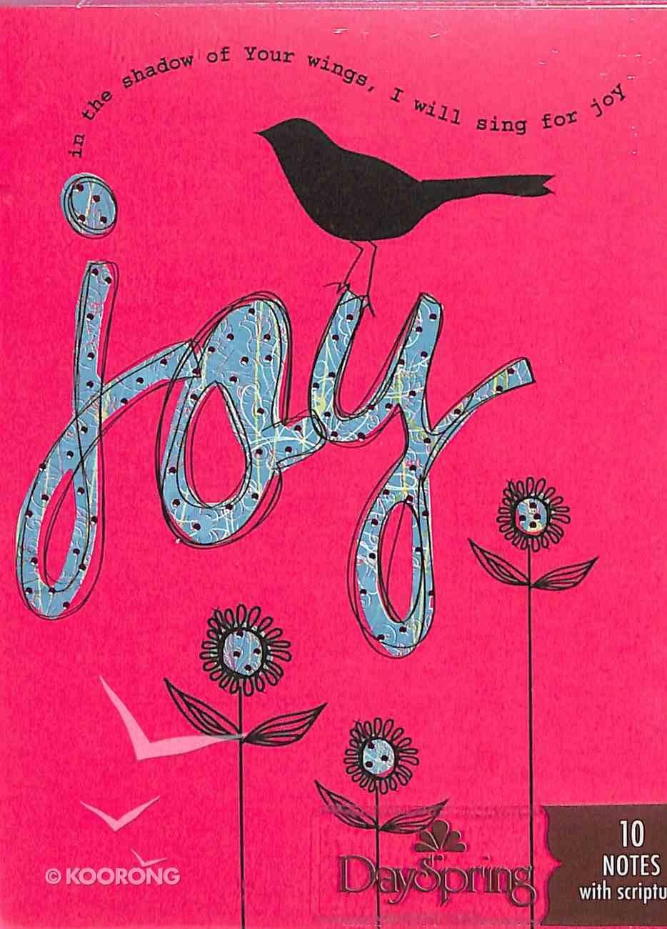Blank Trend Note: Amylee Weeks Joy (Pink) Stationery