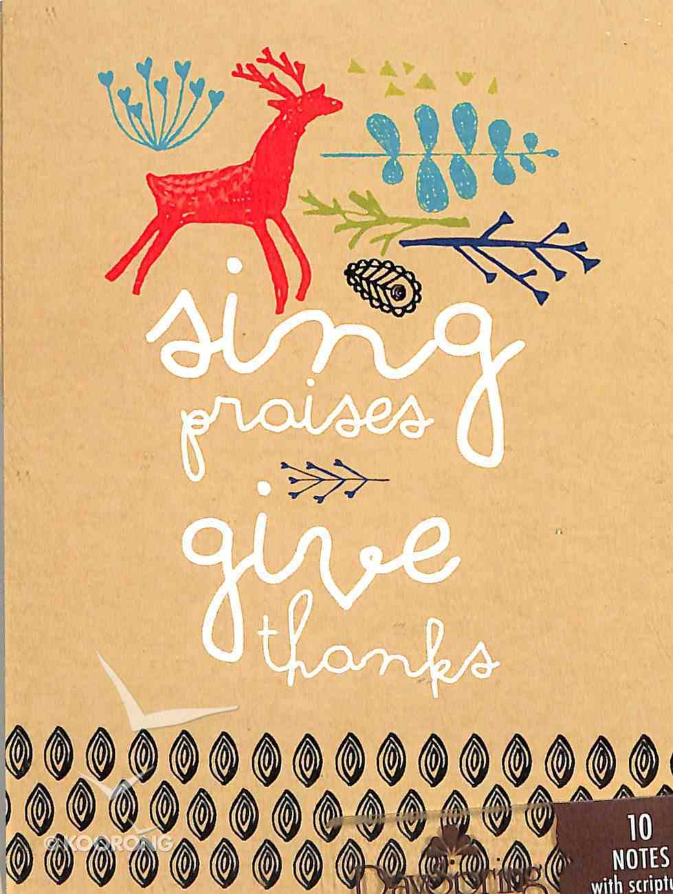 Trend Notes: Amylee Weeks - Sing Praise Give Thanks (Psalms 106:1 Niv) Stationery