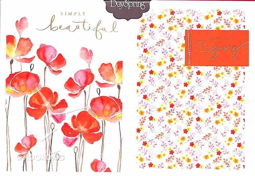 Premium Portfolio: Simply Beautiful (Poppies) Stationery