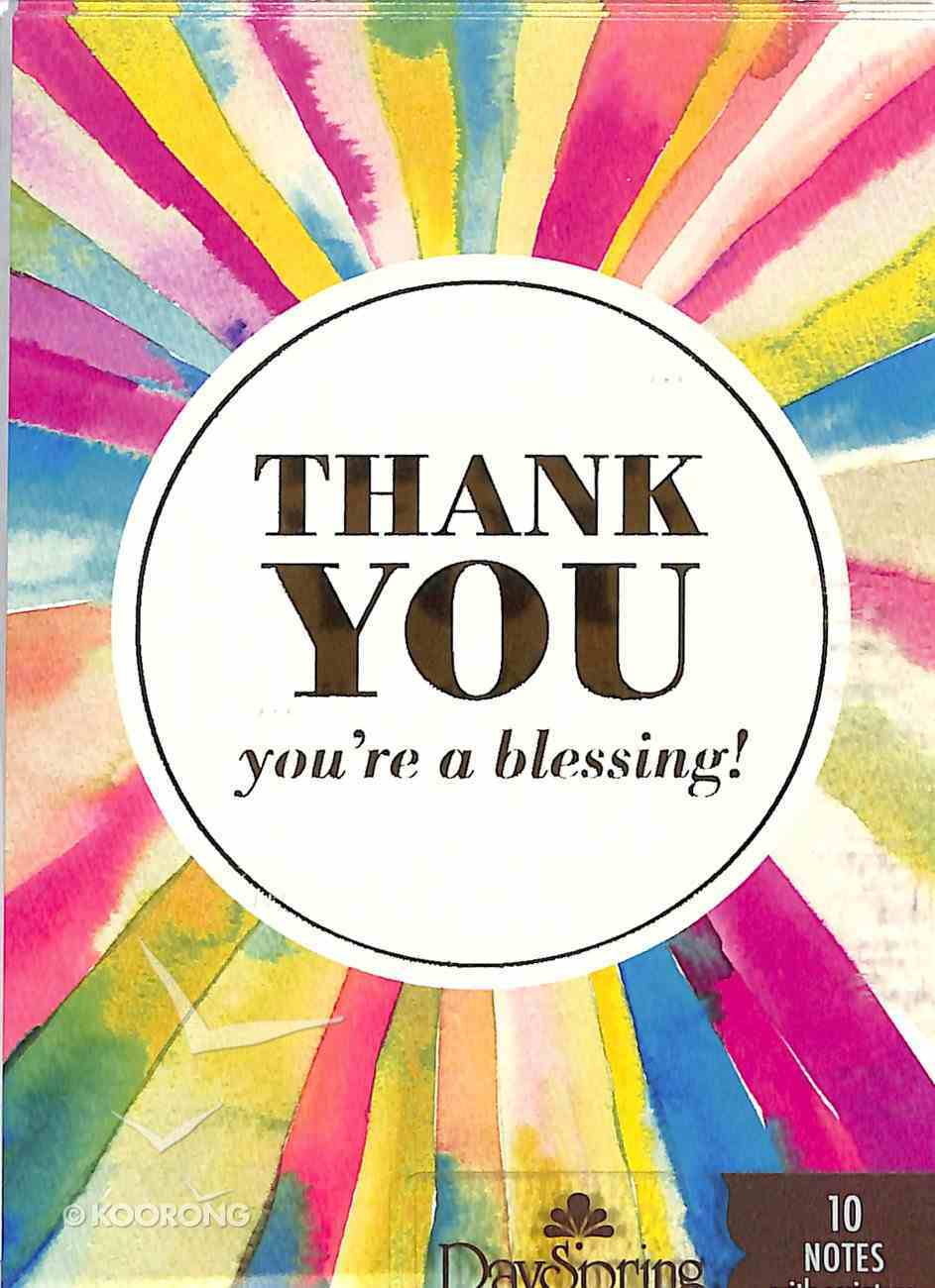 Trend Notes: Rays of Thanks (Genesis 12:2 Nlt) Stationery