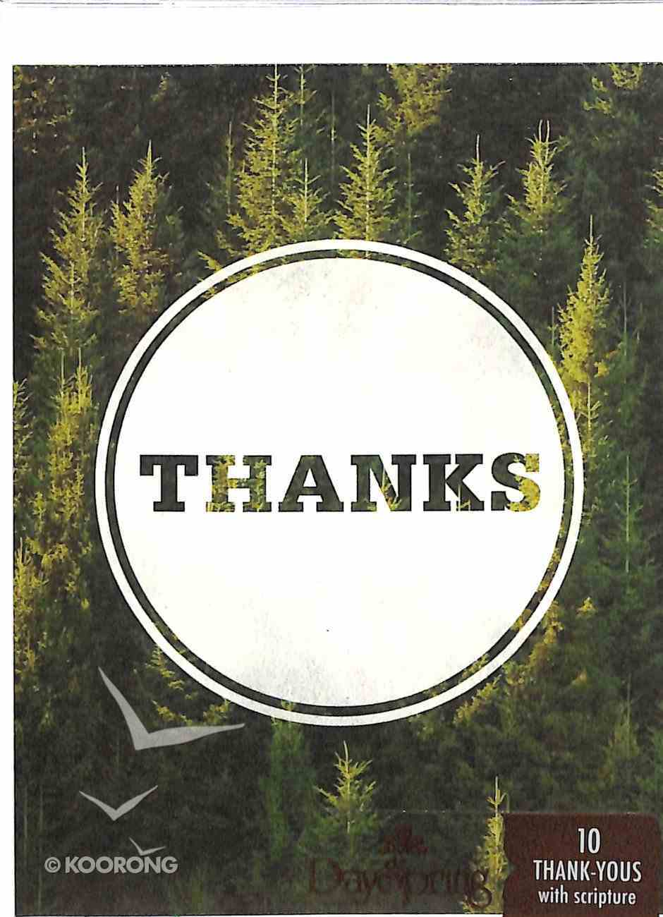 Note Cards Thank You: Forestry (Psalm 73:1 NIV) (Green) Stationery