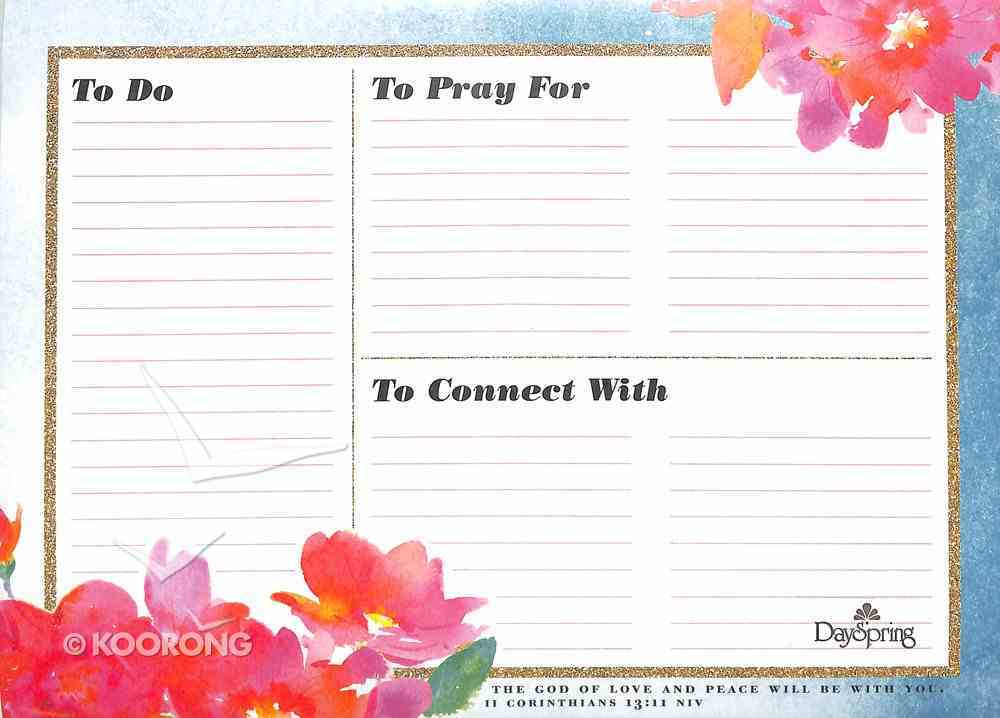 Desk Memo Pad: Bold and Bling (2 Cor 13:11 Niv) Stationery