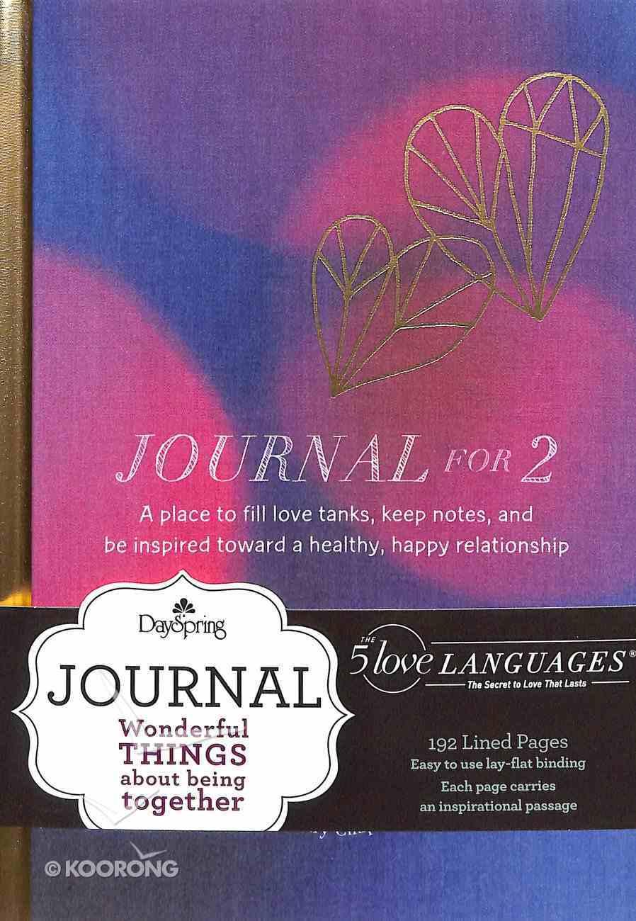 Journal: 5 Love Languages Journal For 2 (Gold Foil Cover) Hardback