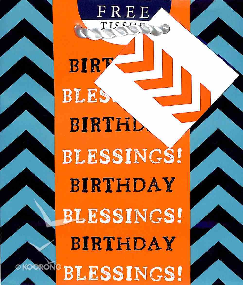 Gift Bag Small: Birthday Blessings (Incl Two Sheets Tissue Paper & Gift Tag) Stationery