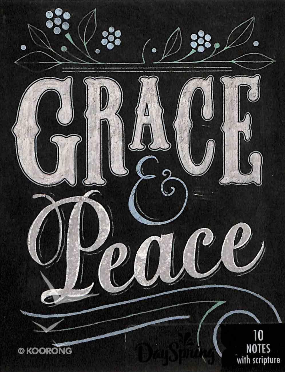 Blank Note Cards: Grace & Peace Chalk (1 Thess 1:1 Nlt) Stationery