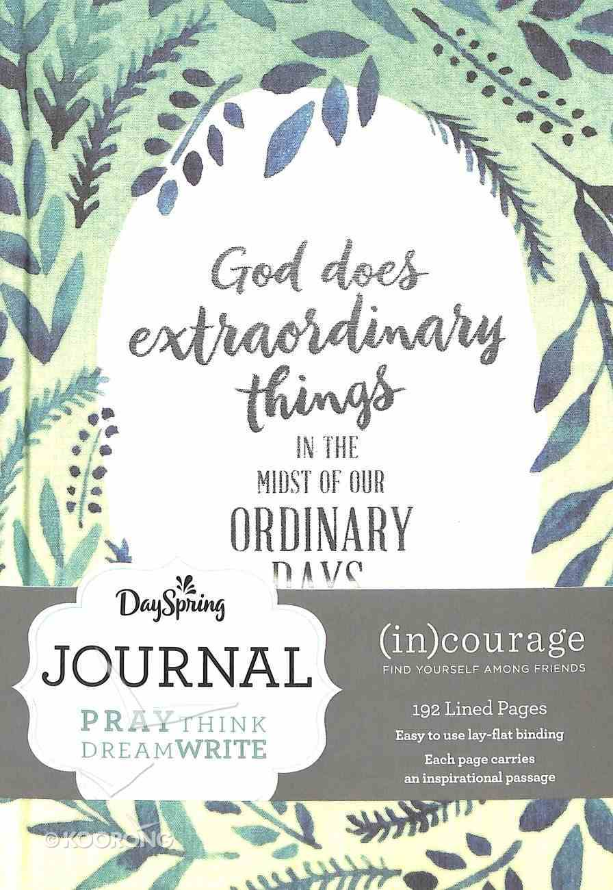 Journal: God Does Extraodinary Things, Mixed Scriptures ((In)courage Gift Product Series) Hardback