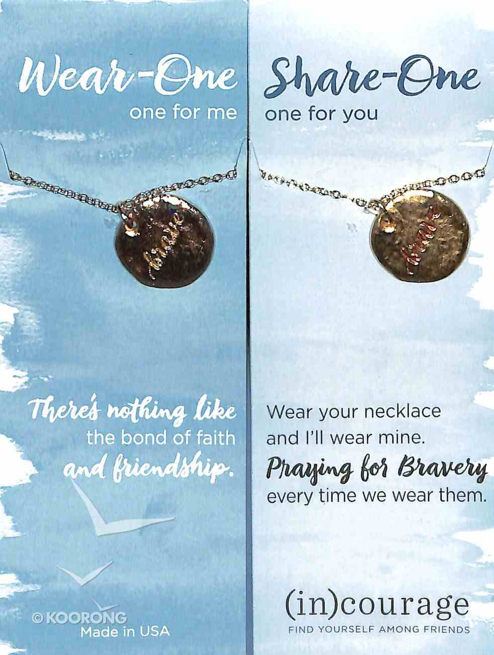 Necklace Wear-One-Share-One: Brave, 1 John 3:16 ((In)courage Gift Product Series) Jewellery
