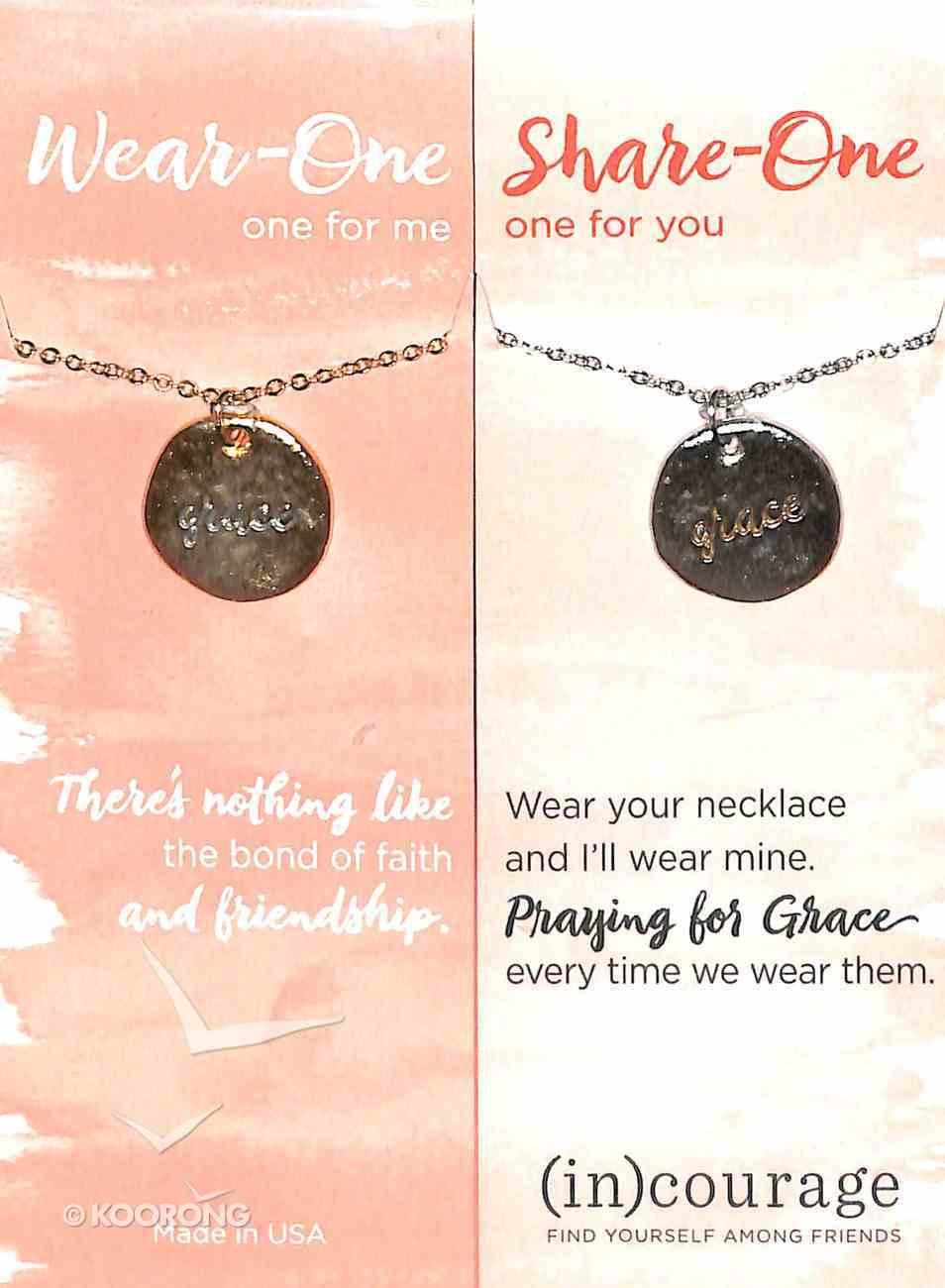 Necklace Wear-One-Share-One: Grace, Ephesians 2:7 ((In)courage Gift Product Series) Jewellery