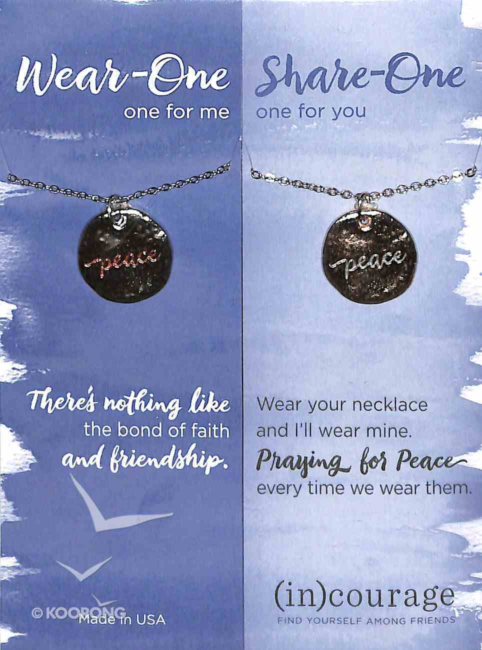 Necklace Wear-One-Share-One: Peace, John 14:27 ((In)courage Gift Product Series) Jewellery