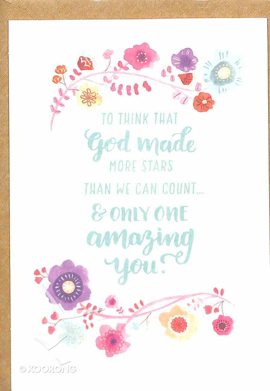 Greeting Card Pack: Amazing You, Bright Floral, Scripture Inside Cover James 1:17 ((In)courage Gift Product Series) Pack