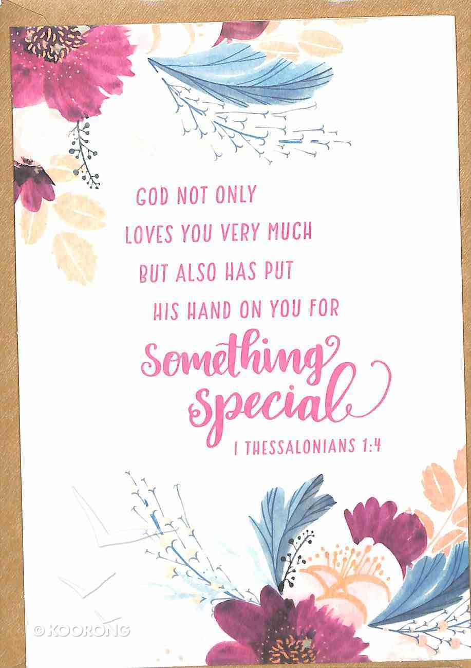 Greeting Card Pack: His Hand, Bright Floral, (1 Thess 1:4) ((In)courage Gift Product Series) Pack