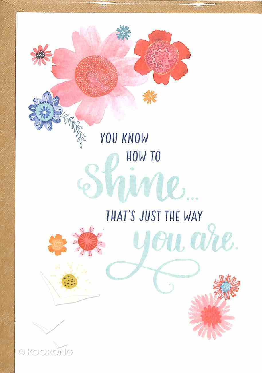 Greeting Card Pack: Shine, Bright Floral, Scripture Inside Cover Matt 13:43 ((In)courage Gift Product Series) Pack