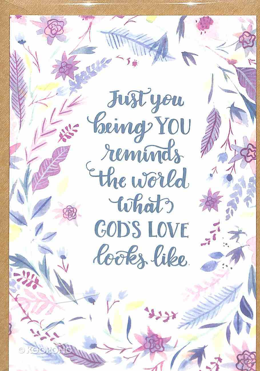 Greeting Card Pack: Just You, Bright Floral, Scripture Inside Cover 1 John 4:19 ((In)courage Gift Product Series) Pack