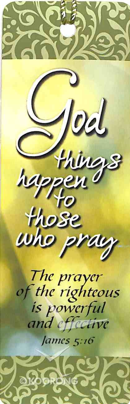 Bookmark With Tassel: God Things Happen Stationery