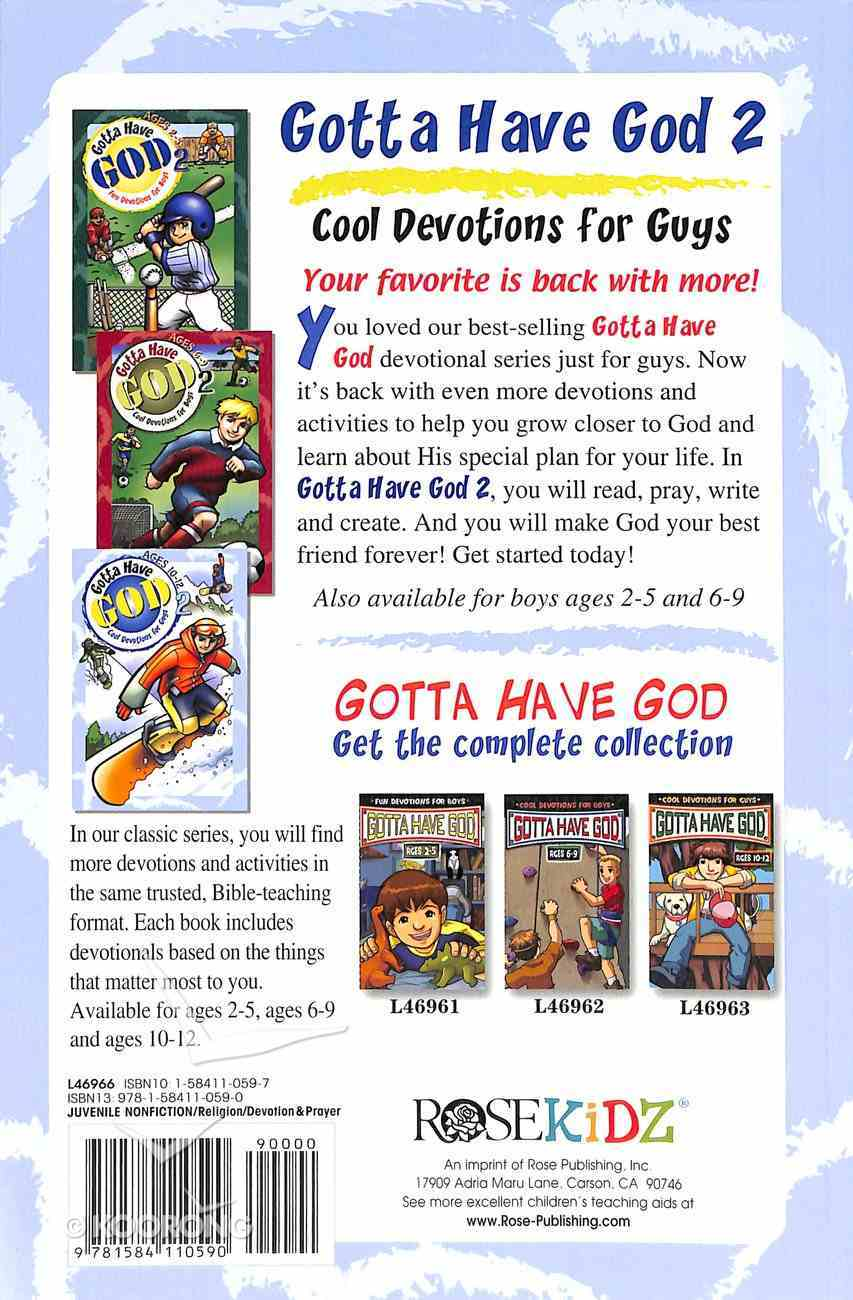 Cool Devotions For Guys (Boys Aged 10-12) (#02 in Gotta Have God Series) Paperback