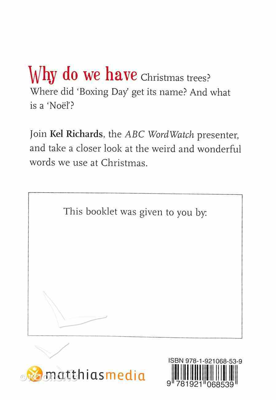 Christmas Word Watch Booklet