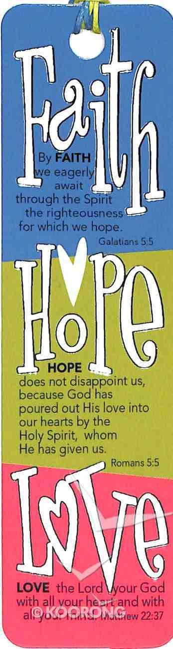 Bookmark With Beaded Tassel: Faith, Hope, Love Stationery