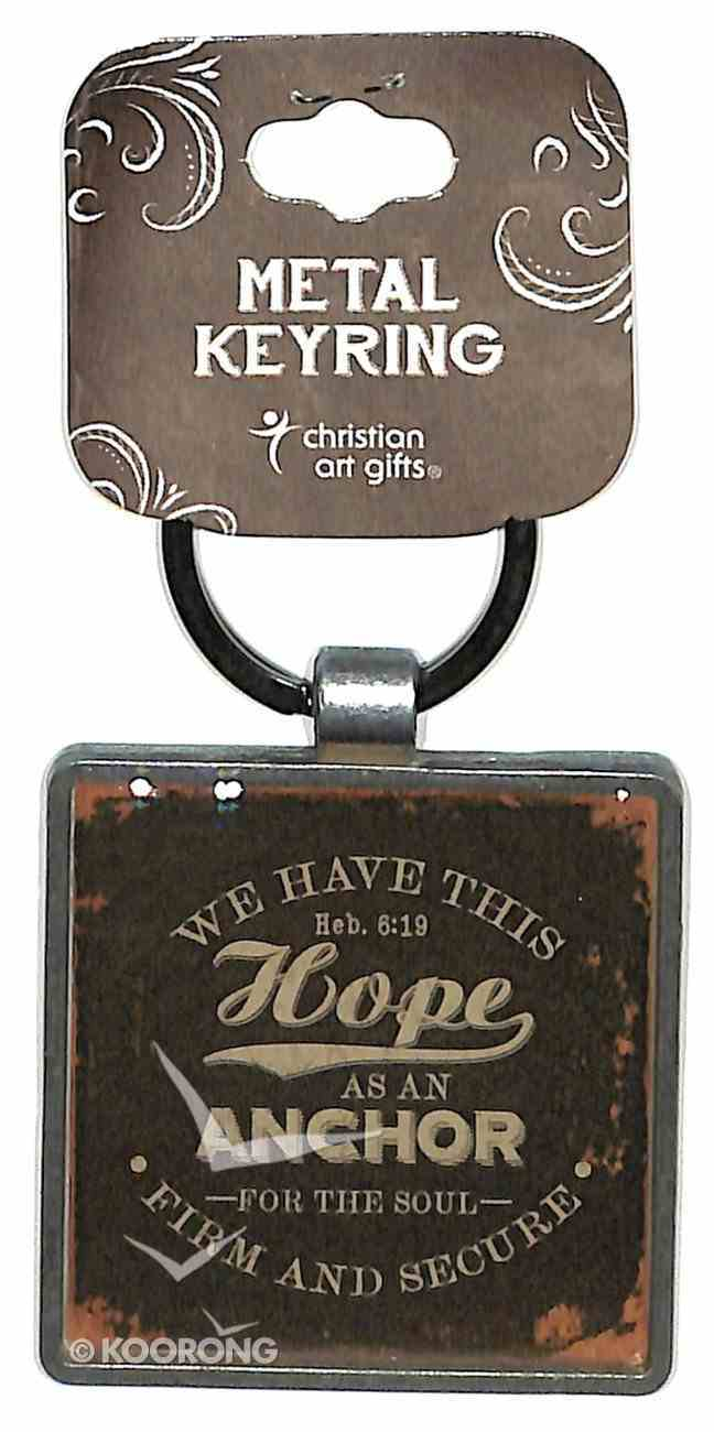 Metal Keyring: Finishing Strong: We Have This Hope (Black) Jewellery