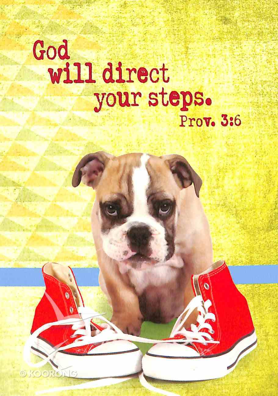 Notepad: God Will Direct Your Steps (Dog With Shoes) Stationery