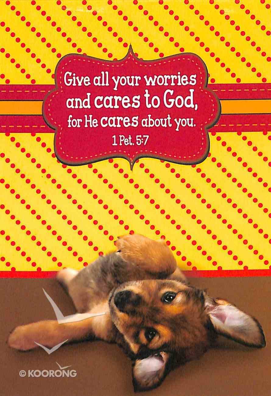 Notepad: Give All Your Worries and Cares to God (Puppy) Stationery