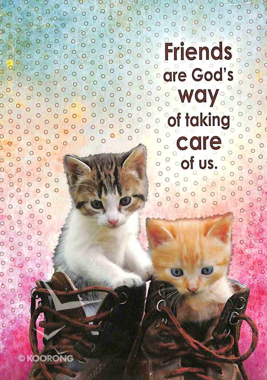 Notepad: Friends Are God's Way of Taking Care of Us (Kittens In Boots) Stationery