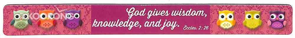 Magnet Strip: Owl, God Gives Wisdom, Knowledge and Joy (Ecc 2:26) Novelty