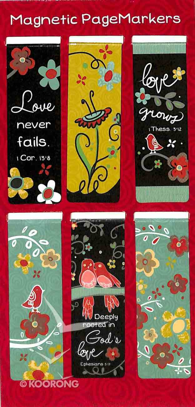 Bookmark Magnetic: Love Never Fails (1 Cor 13) (Set Of 6) Stationery