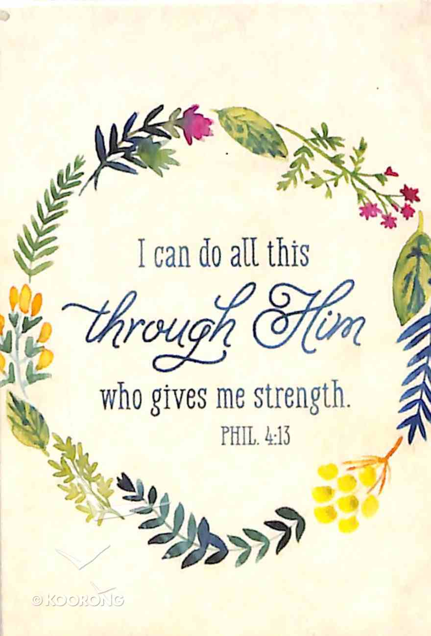Magnet With a Message: I Can Do All Things...Phil 4:13 (Colored Wreath) Novelty