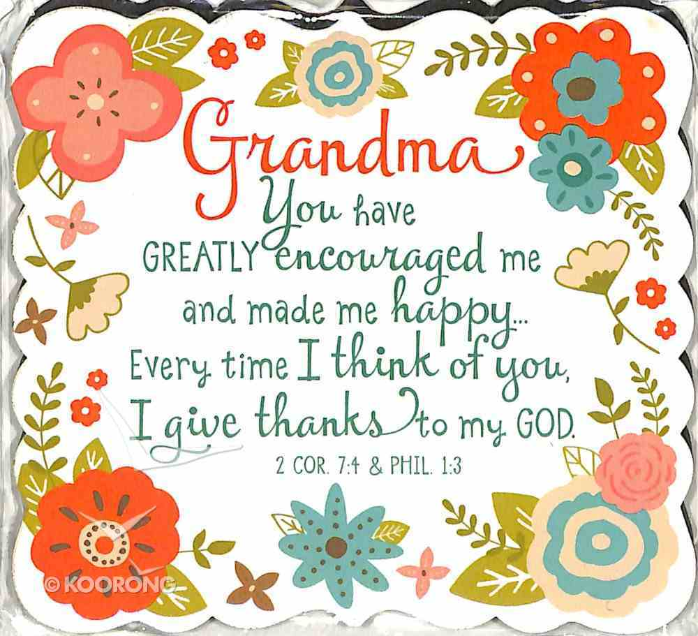 Magnet Flowers For You: Grandma, Gladness Floral Pattern (2 Cor 7:4 & Phil 1:3) Novelty