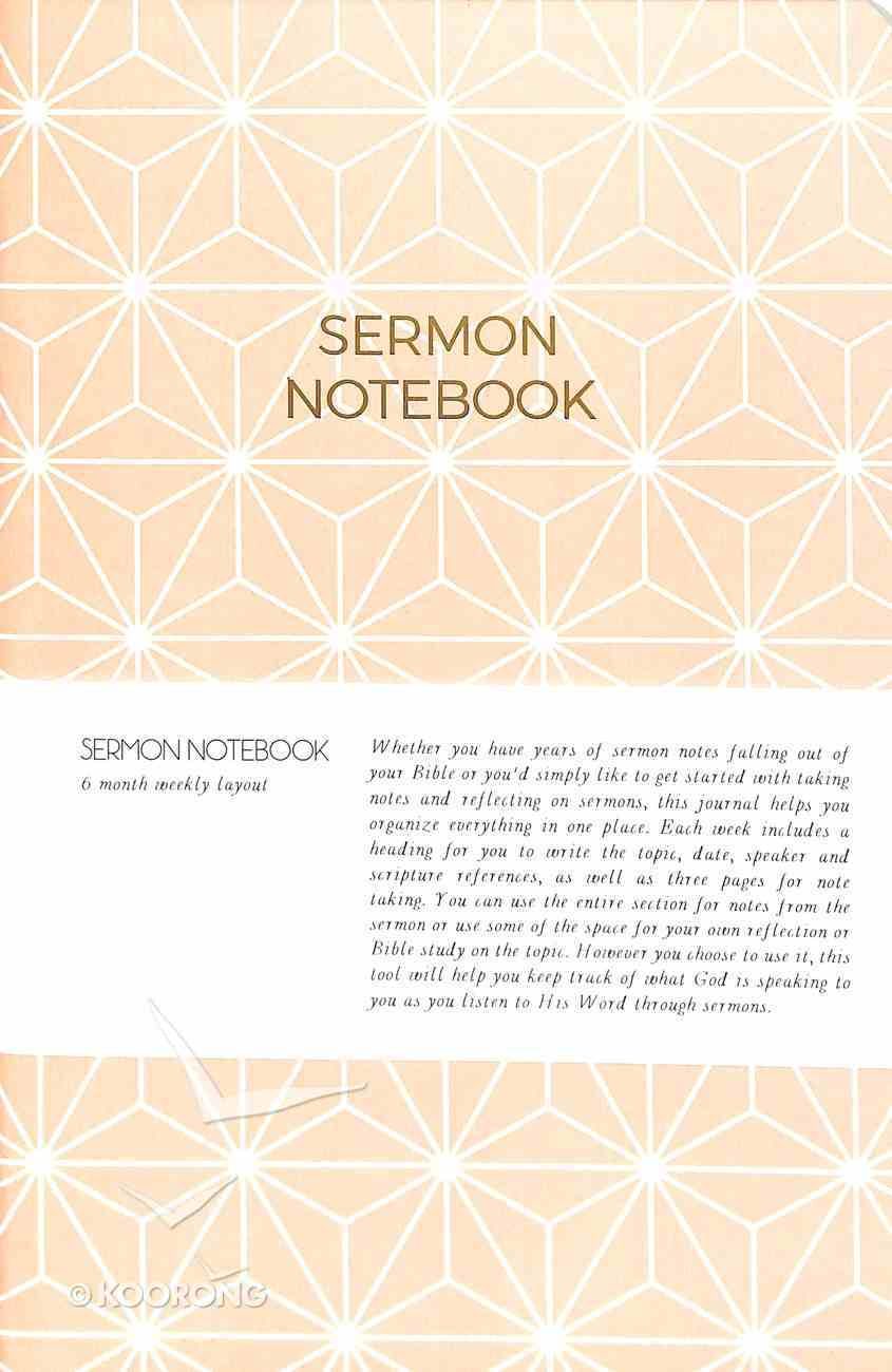 Sermon Notebook: 6 Month Weekly Layout (Light Pink Geometric) Paperback