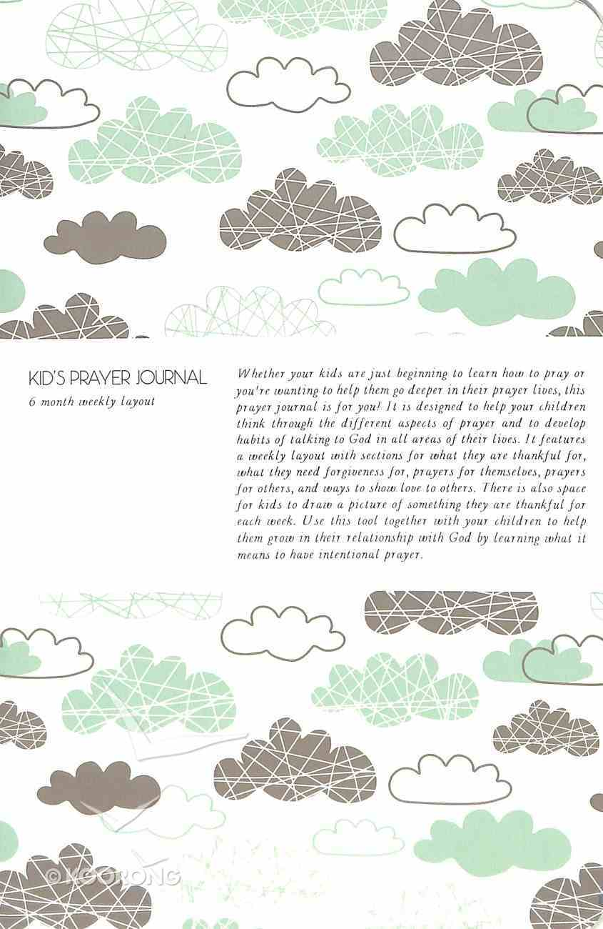 Kids Prayer Journal: 6 Month Weekly Layout (Clouds) Paperback