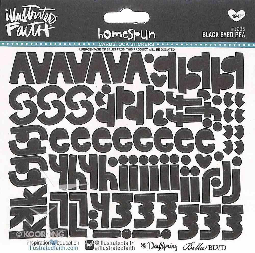 Black Eyed Pea (Black Alphabet) (Illustrated Faith Homespun Alphabet Stickers Series) Stickers