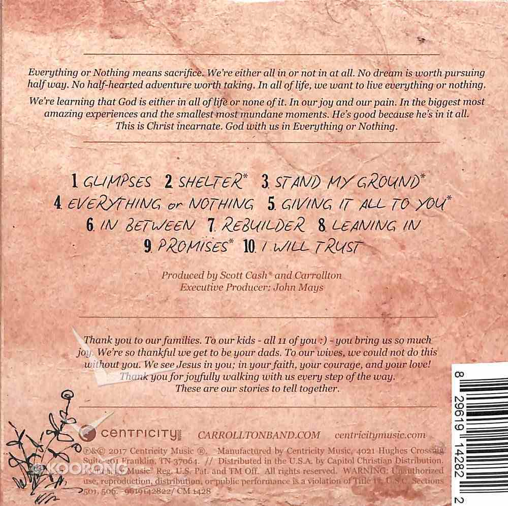 Everything Or Nothing CD