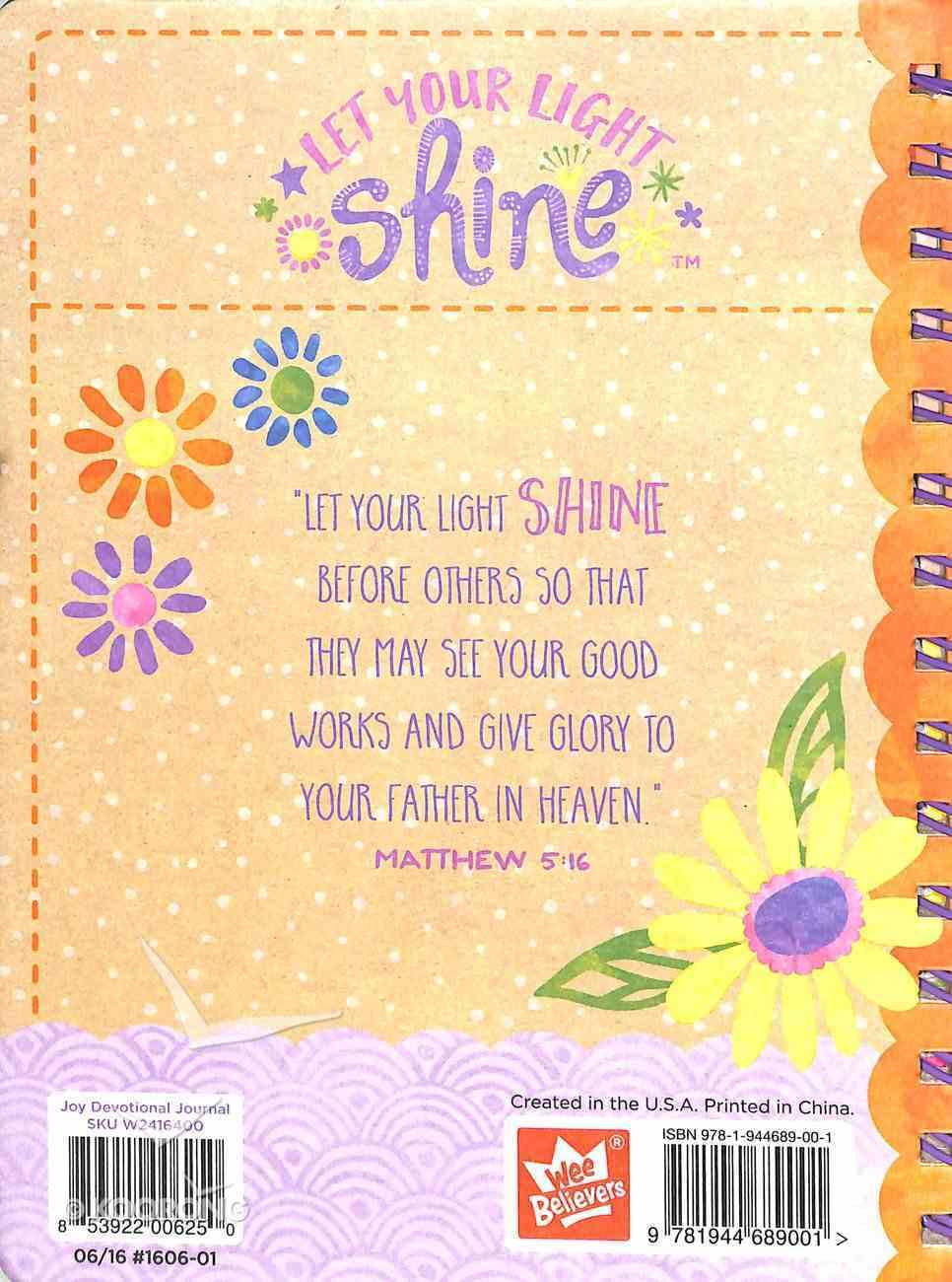 Let Your Light Shine: Joy Tween Art Devotional Journal Spiral