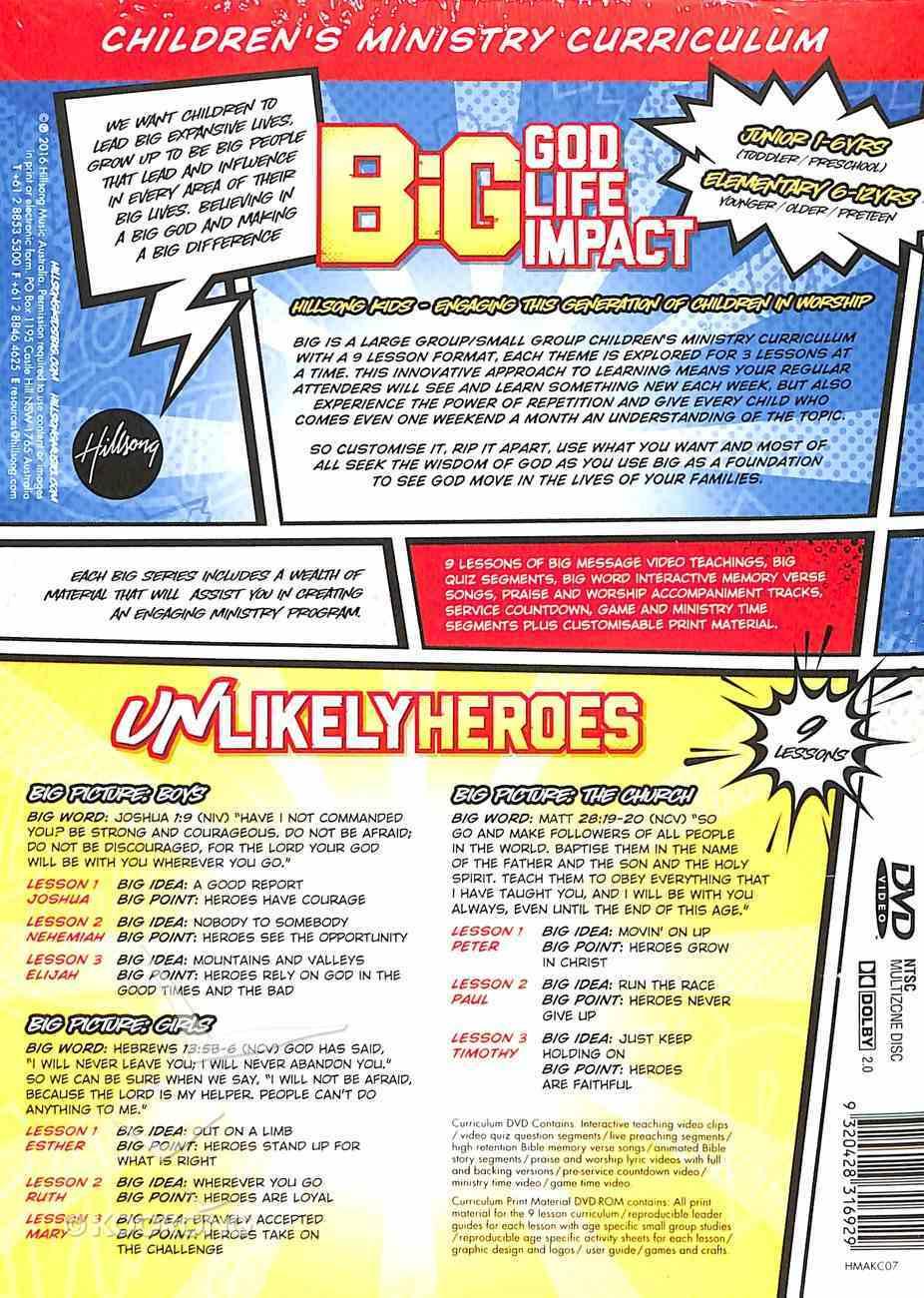 Big Unlikely Heroes (Junior 1-6 Yrs - Elementary 6-12 Yrs) (Pack) (Hillsong Kids Big Curriculum Series) Pack