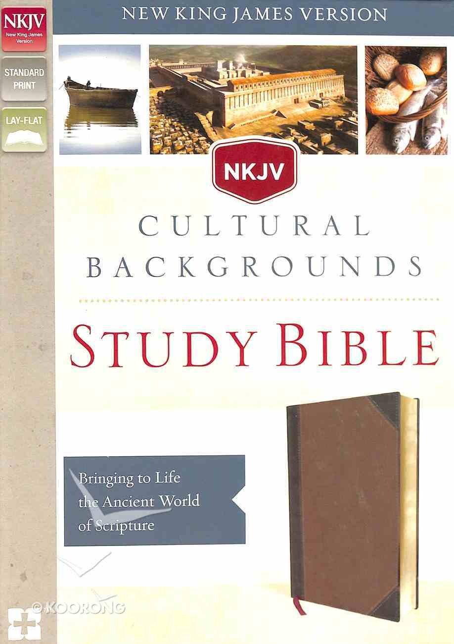 NKJV Cultural Backgrounds Study Bible Brown (Red Letter Edition) Premium Imitation Leather